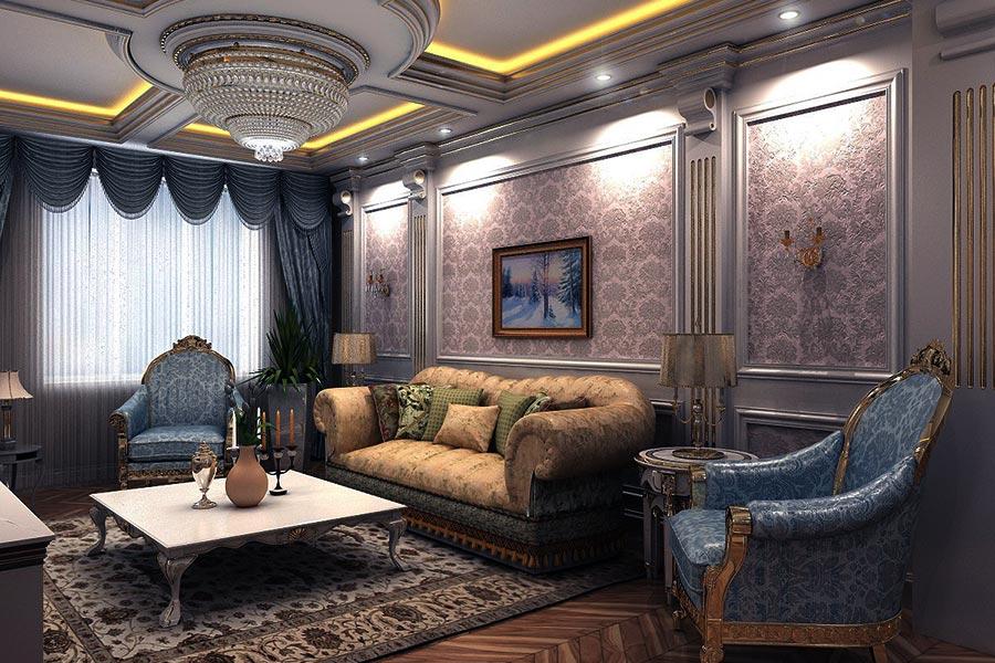 Элитный ремонт большой комнаты