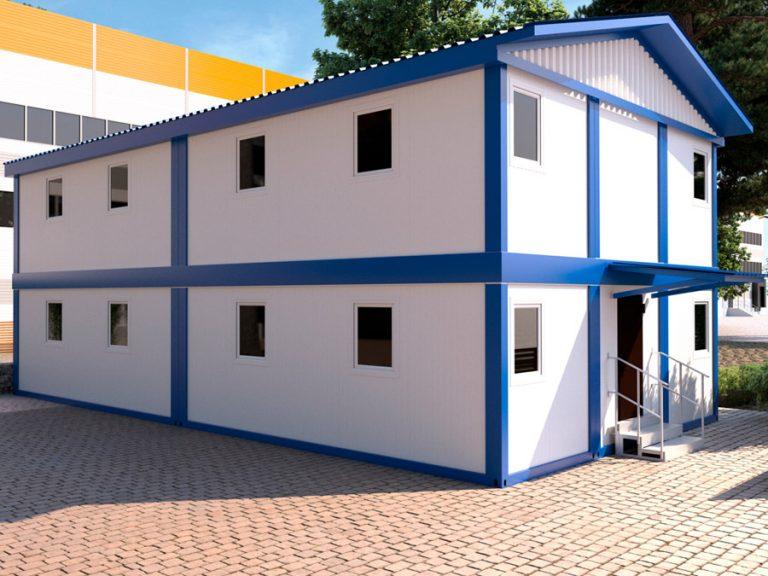 Двухэтажное модульное здание