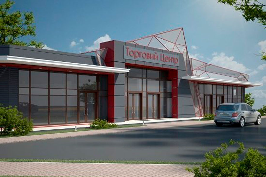 Торговый центр построенный по модульной технологии