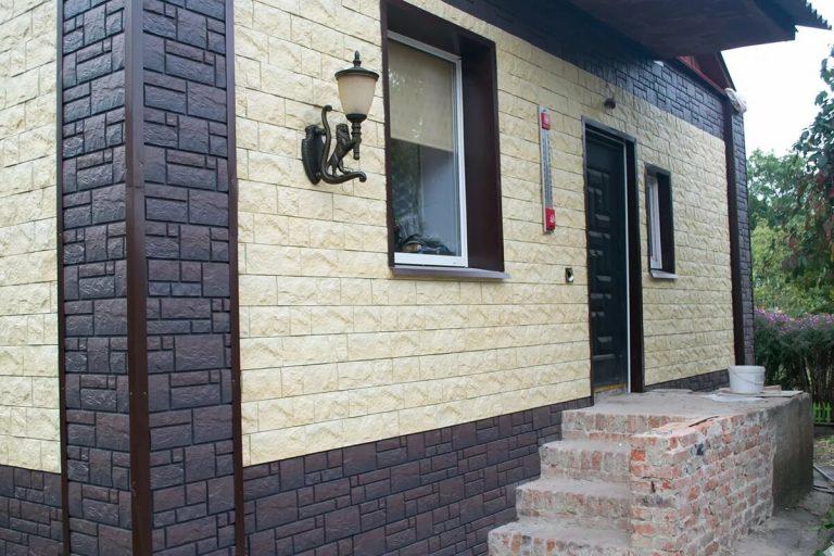 Фасад облицованный искусственным кирпичом