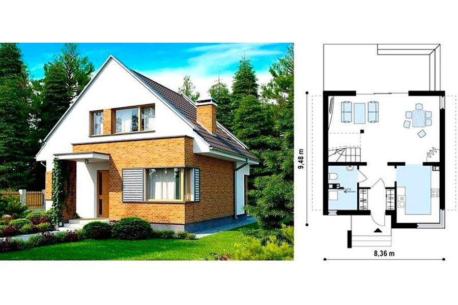 Планировка и вид дома