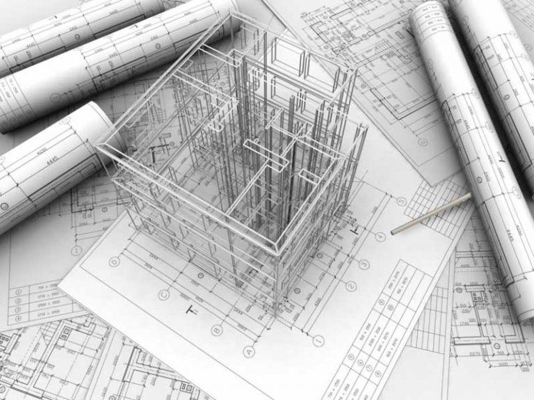 Чертежи на этапе проектирования здания