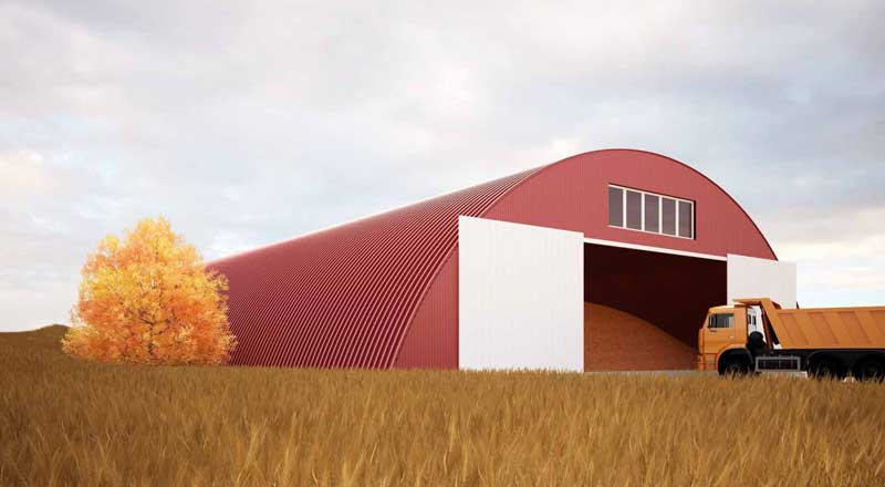 Каркасное зернохранилище