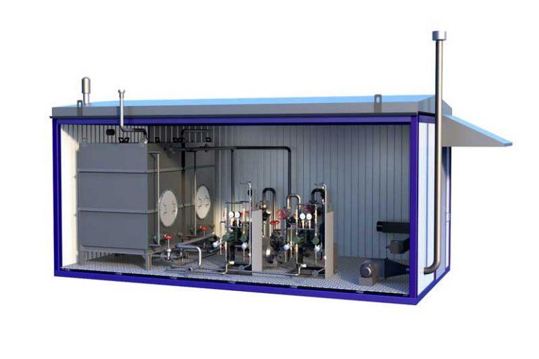Блок контейнер для оборудования дизельного генератора