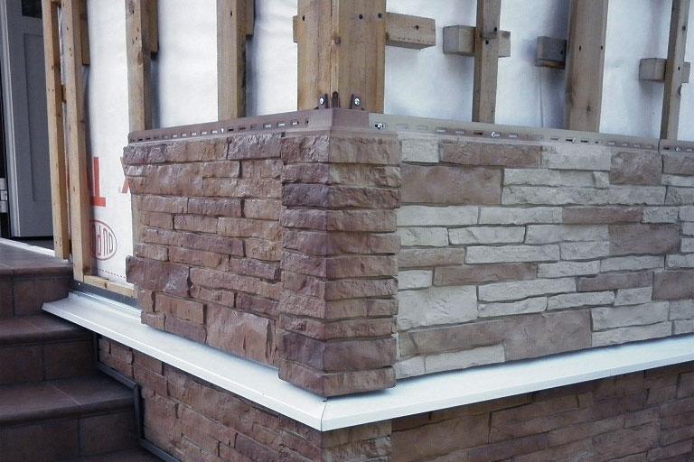 отделка стен фасада панелями