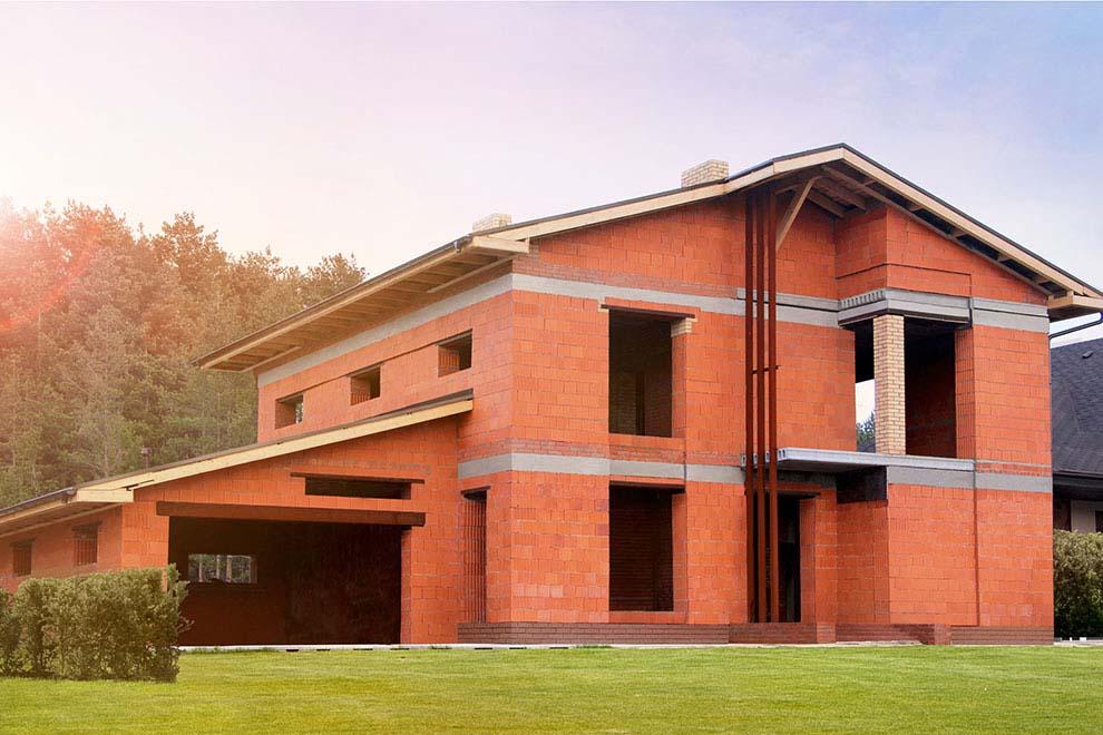 пример дома из керамического блока