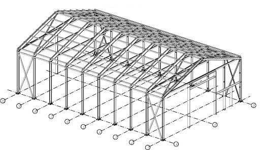 схема несущих элементов для быстровозводимых зданий
